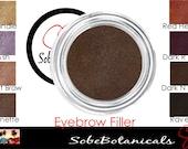 Fill Me In Eyebrow filler loose powder Natural look Mineral makeup eye brow Ash, Blondie, Brunette, Dark Brow, Raven, Red head (5g)