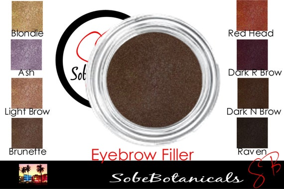 Fill Me In Eyebrow filler loose powder Natural look Mineral makeup eye brow Ash, Blondie, Brunette, Dark Brow, Raven, Red head (5g)