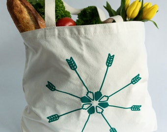 Arrow Tote Bag- Recycled Cotton