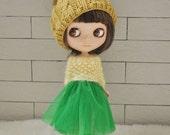 Babydoll TUTU Skirt for Blythe-Green