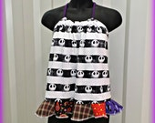 Womens Swing Top . Halter Top . Size Large . Womens L . Halloween . Jack and Sally