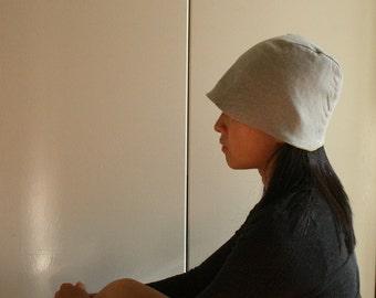 WOOL HAT / reversible / womens / men / unisex /  linen / beanie / eco / cloche / winter / made in australia by pamelatang