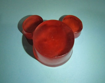 Red Cartoon Mouse Head Soap