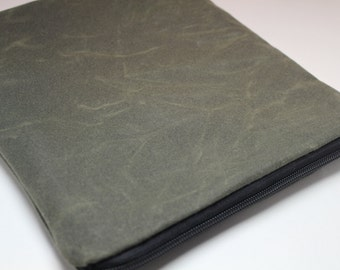 """Waxed Canvas - The New 13"""" or 15"""" MacBook Pro, 13"""" or 15"""" Macbook Pro with Retina Display, 13"""" Dell XPS Laptop Sleeve Case - Padded"""