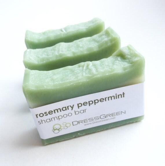 Rosemary Peppermint Shampoo Bar with Jojoba and Meadowfoam Seed Oils