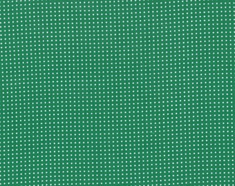 SALE - Color Me Happy - Dots in Emerald Green: sku 10827-14 cotton quilting fabric by V and Co. for Moda Fabrics - 1 yard