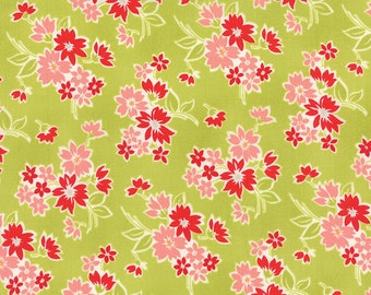 SALE - Miss Kate - Spring in Apple Green: sku 55091-13 cotton quilting fabric by Bonnie and Camille for Moda Fabrics - 1 yard