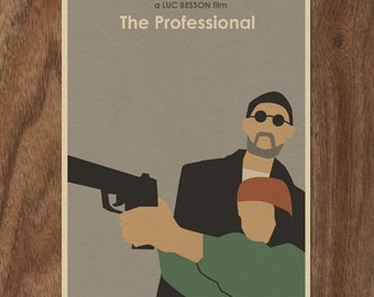 The Professional 16x12 Luc Besson Minimalist Movie Poster Print