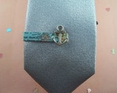 Custom City Map Tie Clip with Anchor