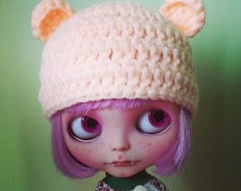 Sale PEACH teddy ears. smaller ears version