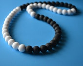 SALE  Color Block Silicone bead necklace with bonus, FREE SHIPPING