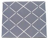 Dark Gray Memory Board French Memo Board, Fabric Ribbon Memo Bulletin Board, Fabric Pin Board, Fabric Photo Board, Bedroom Decor