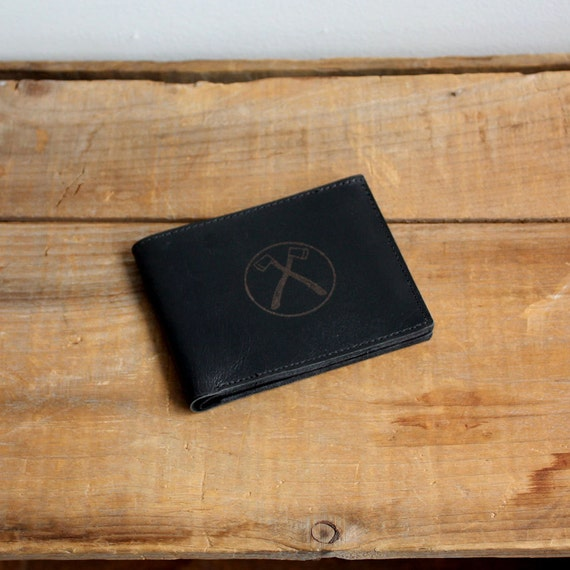 TRIM Recycled Axes Leather Wallet