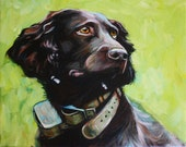 "SALE!  Custom Pet Portrait 8""x10"" Acrylic on Canvas"