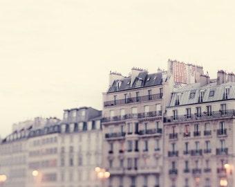 Paris Apartment, Paris Photography, French Home Decor, Ile St Louis, Paris Art Print, Beige Wall Art - I'll Meet You in Paris