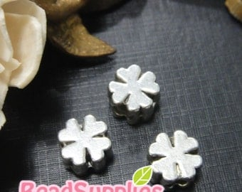 BE-ME-01001 - lucky leaf beads,10 pcs
