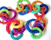 Cat Toys, Ferret Toy, Unique Recycled Rings, Rainbow Colors, Gift for Cats and Ferrets