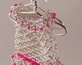 Beaded Babydoll Dresses on Hanger Earrings