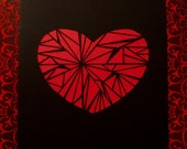 Black Cut Paper Heart - One of a Kind