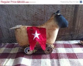 CustomerAppreciation Sale Primitive Sheep Pull Toy
