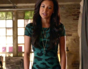 Seen on Glee - Stone Dagger & Feather Necklace