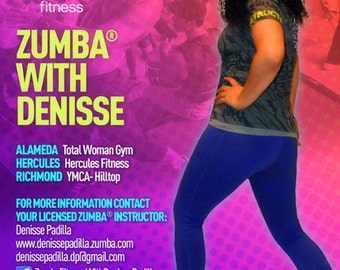 Zumba Fitness Instructor Promotion flyer