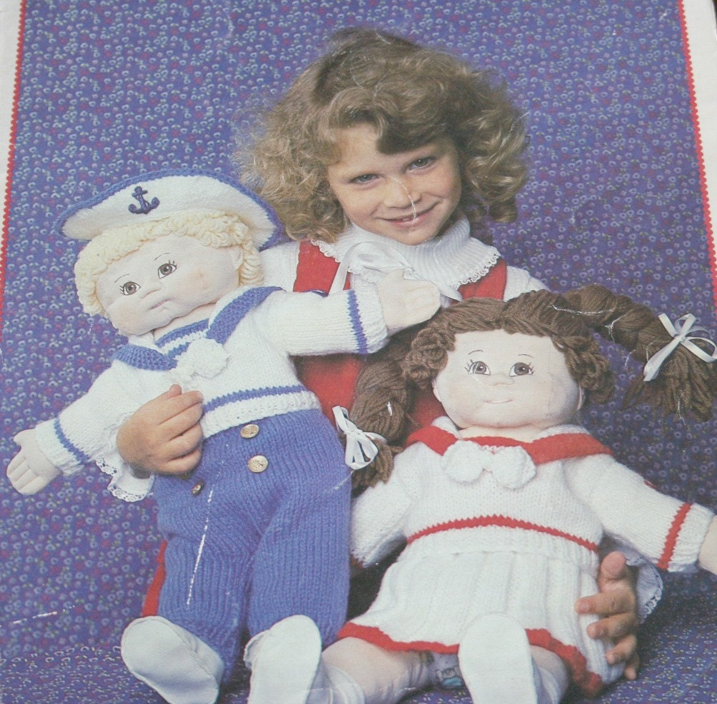 Knitting Pattern For Sailor Doll : Knitting Patterns Doll Sailor Suits Ship Ahoy Beehive Patons