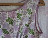 FOR FAITH --- Vintage Cotton Lilac Summer Garden Dress