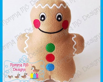 Gingerbread Softie Machine Embroidery File