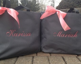 Bride Tote Bag Bridesmaid Totes Monogrammed Personalized Embroidered  Bridal Party Gifts
