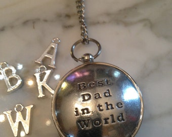 Working Compass Necklace Keychain Best Dad in the World