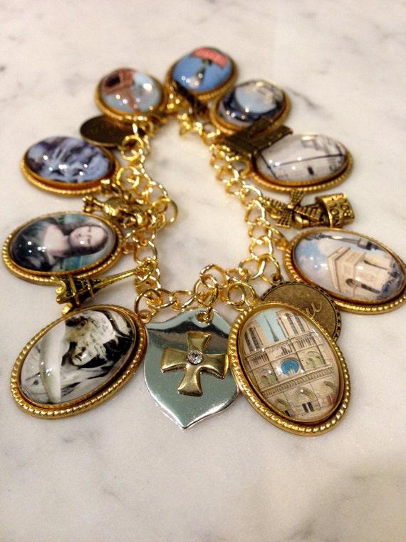 The Charms of Paris Charm Bracelet
