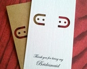 Bridesmaid Card - 30 earring cards - lever back
