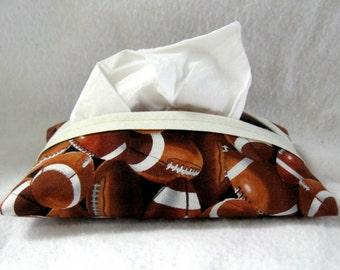 Football Pocket Tissue Holder - Sports Tissue Cozy - Football Tissue Cover