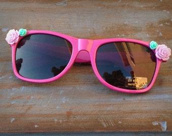 Rose sunglasses, rockabilly sunglasses, sunglasses with roses, floral sunglasses