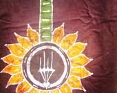 Batik Banjo Sunflower- M, or XL