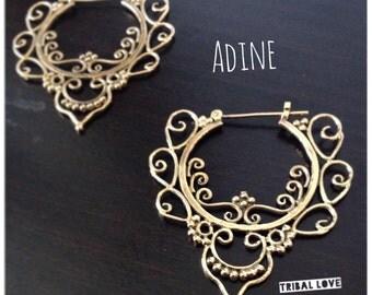 Adine Delicate Brass Earring