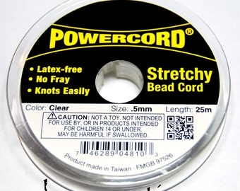 Powercord .5MM Clear Stretch Cording