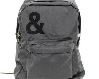 Backpack: Ampersand, Rucksack, Nylon Backpack, Laptop Backpack, Hipster Backpack, College, School Backpack, Mens Backpack, Womens Backpack