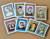 Vintage Photo Booth Gift Cards - Set of 8 - Digital File - Print at Home - DIY - Birthday - All Occasion