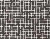 Japanese Fabric Kokka Garden Ellen Baker - Framework - broken plaid - charcoal
