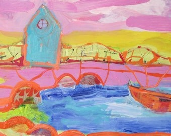Original painting by Michelle Daisley Moffitt.......House on the Bay