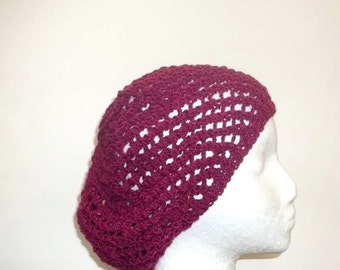 Knitted beanie cap with sequins hat open weave knitted  4661