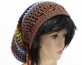 Dread Tam Oversized Hippie Hat  Crochet Mens or Womens Dread Hat Festival Beanie Coachella Clothing