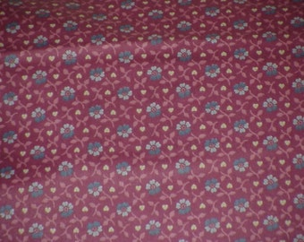 Vintage Polished Cotton Lillian August Fabric 2 1/2 yards