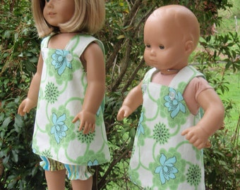 """18"""" Girl Doll Clothes Cross Over Top and Pantaloons SewSoNancy Boutique"""