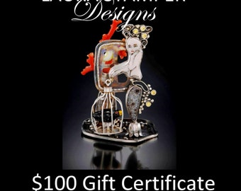 This is a 100 US Dollar Gift Certificate for any Laura Stamper Design