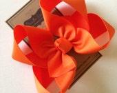 Big Girl Hairbows - Large Boutique Bow - Orange Bow