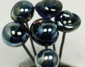 Sale 16 gage Lampwork Glass Head Pins A mixed set of 6 pieces