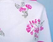 Hot Pink Violets - a vintage 1980's Vera Neumann Verasa scarf
